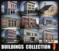 3d buildings modular mentalray model