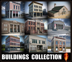 3d buildings modular mentalray model