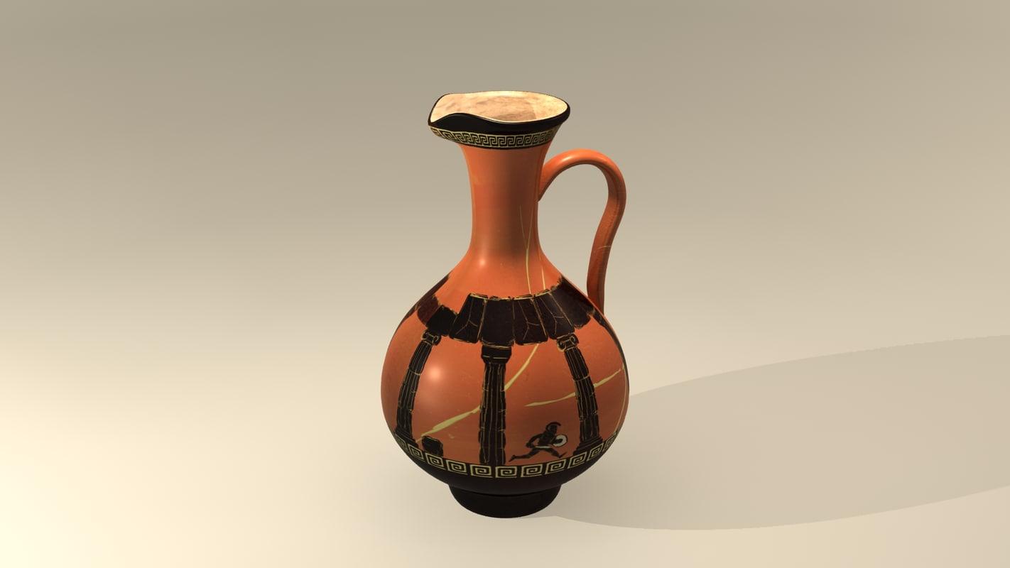 greek picher 3d model