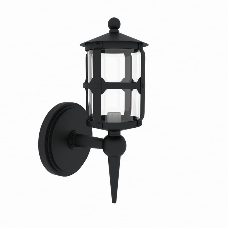 3d outdoor wall lamp