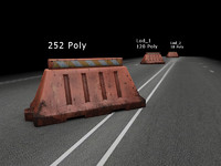 3d obj traffic barriers