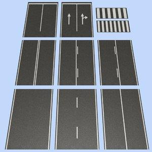 3d road mht-01 2 lane