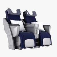 3d model of business class seat