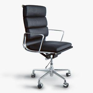 3d model eames soft pad executive chair