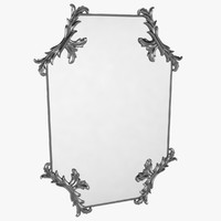 3d silver mirror