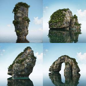 3d model thai rocks