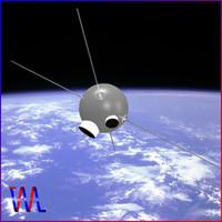 3d satellite vanguard ii model