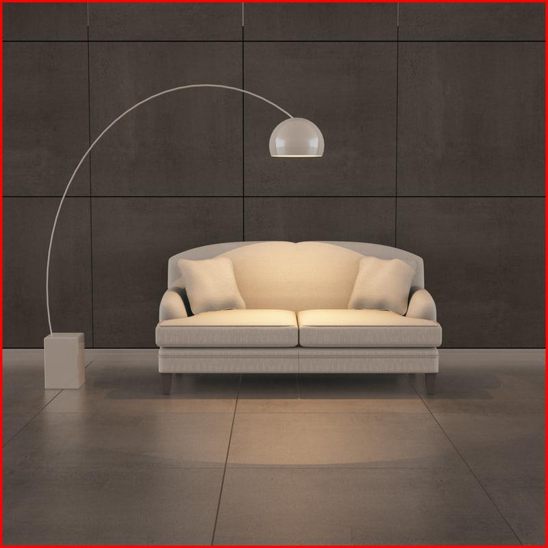 nice sofa 09 3d 3ds