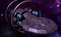 hypothetical warp ship 3d model