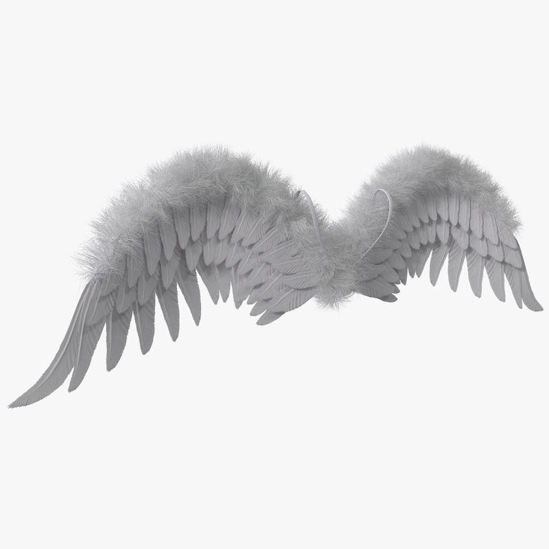 3ds max costume angel wings fur