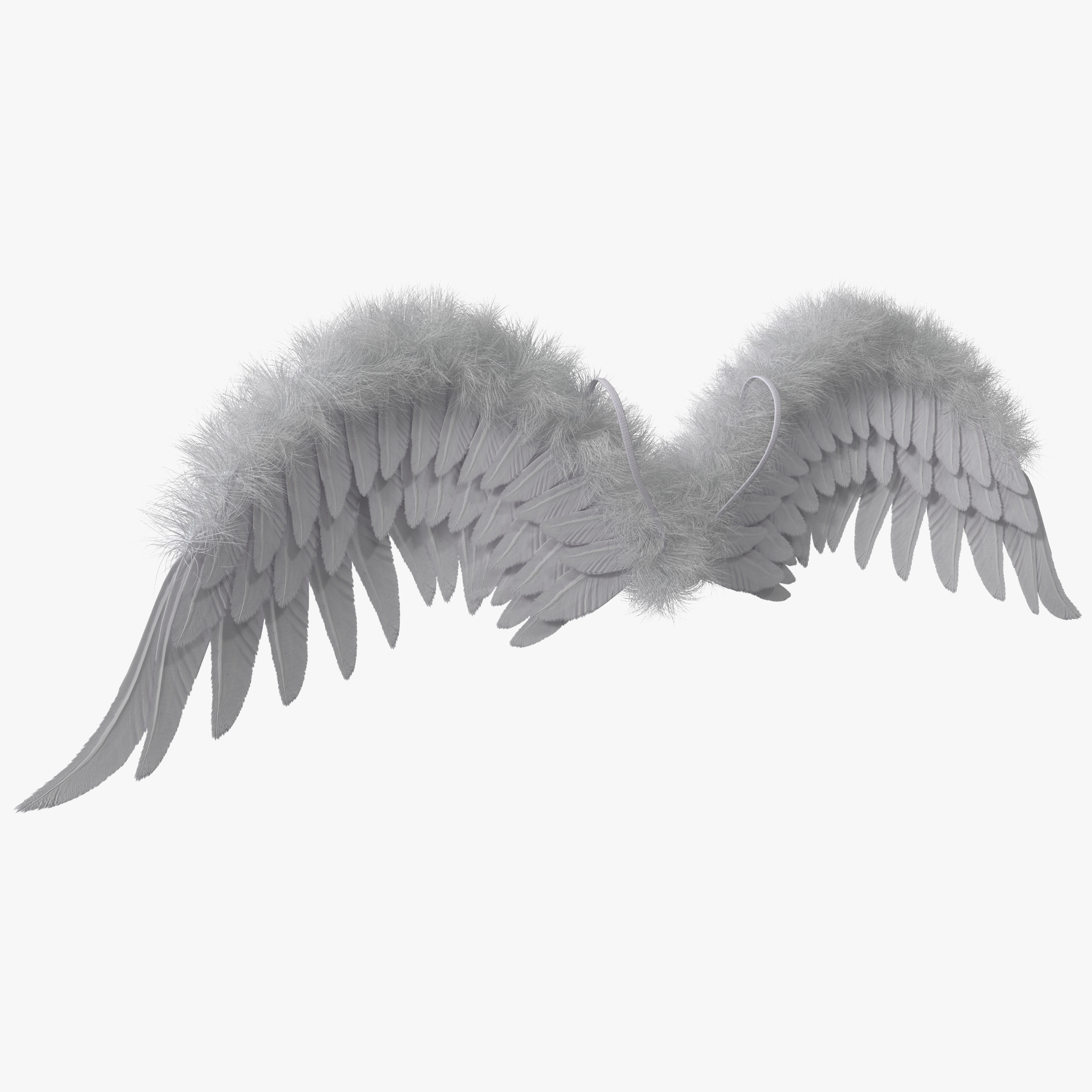3ds max costume angel wings fur