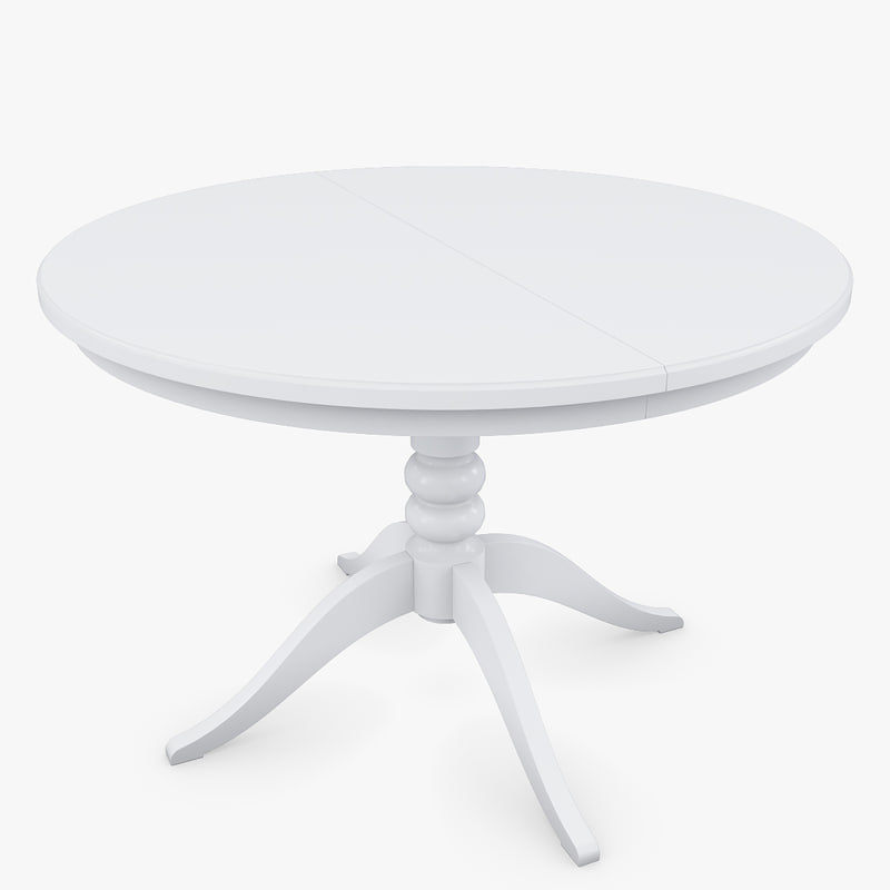 3d model of realistic ikea liatorp white