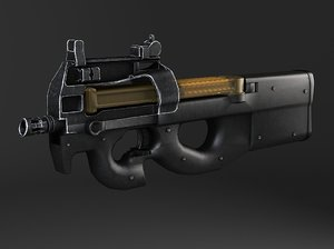 3d fn p90 submachine