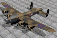 3d model of bomber lancaster avro