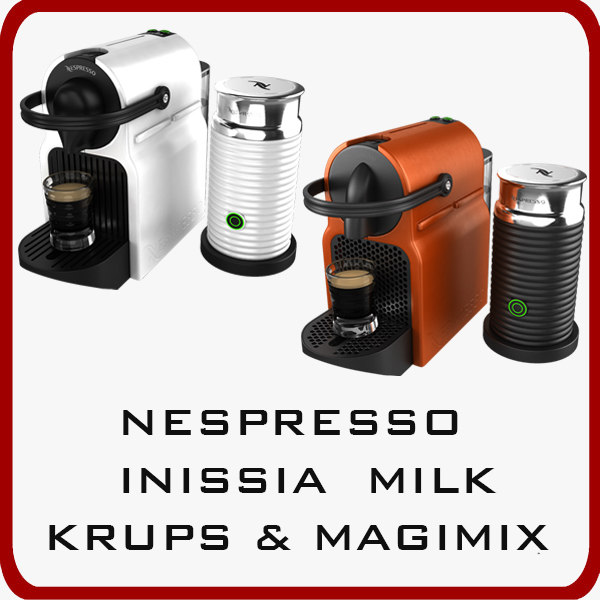 3d model of nespresso inissia milk magimix