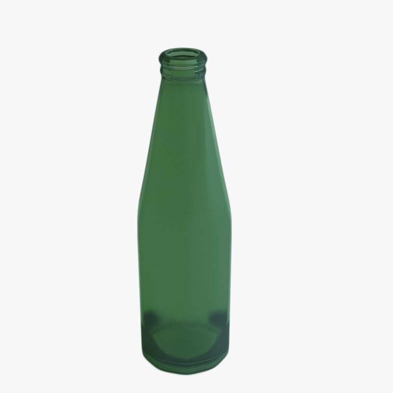 green bottle 3d model