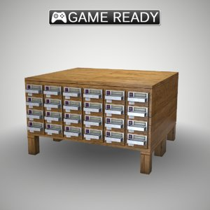card catalog obj