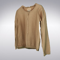 Women's Cashmere Cardigan Tan - 3D Scanned
