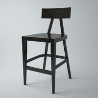 BST-0336 wooden bar stool