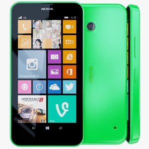3d nokia lumia 630 green