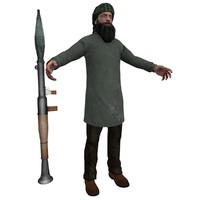 3dsmax taliban terrorist man