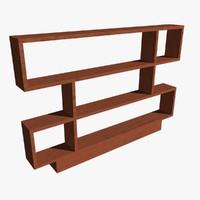 3d model alcove shelving