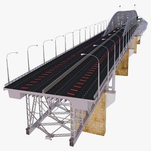 auckland harbour bridge new zealand 3d model