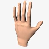 3d hand base unwraped model