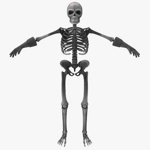 cartoon skeleton 2 max