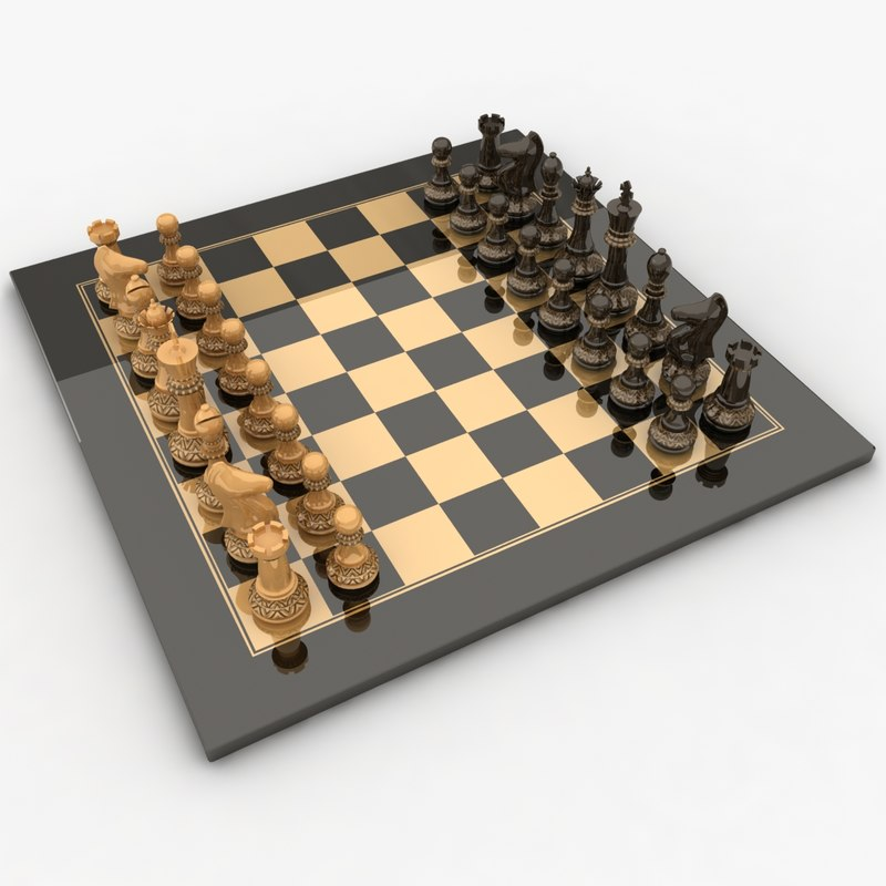 realistic chess 3d model