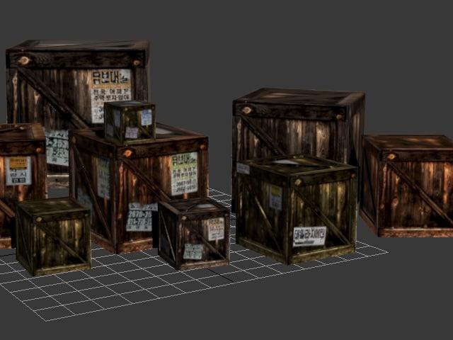 free ready boxes 3d model