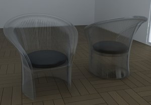 magis flower chair 3d model