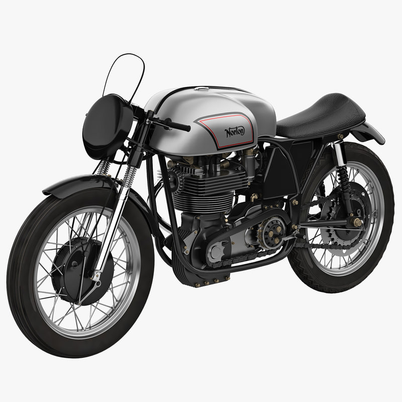 3d model motorcycle norton manx