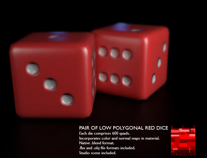 3d model red dice