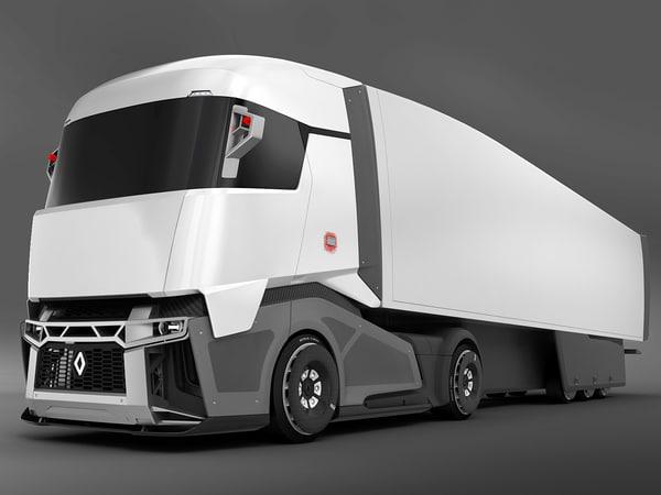 3d model of renault concept truck