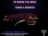 3d model dragon fish modelling echiostoma