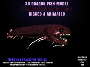 3d model dragon fish modelling echiostoma