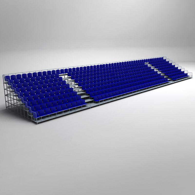 3d stadium seating tribune model