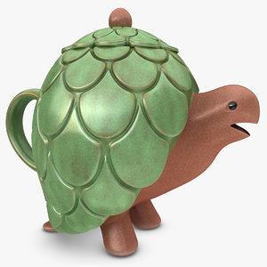 turtle teapot 3d model