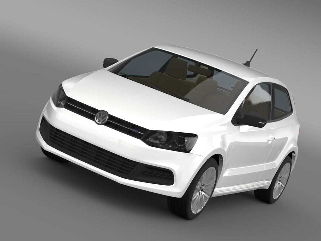 volkswagen polo bluegt 2009-2013 3d model