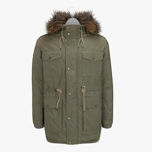 male winter coat hanger 3d model