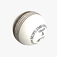 3ds max white cricket ball