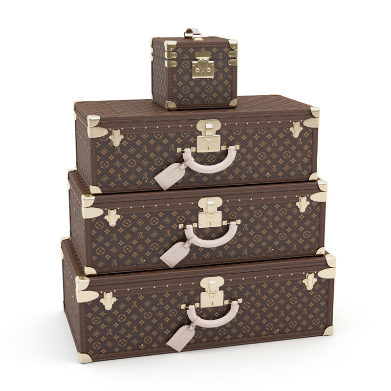3d luggage louis vuitton