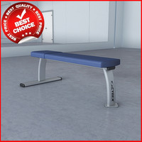 3d weights flat bench