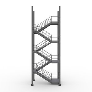 industrial stairs 3d max