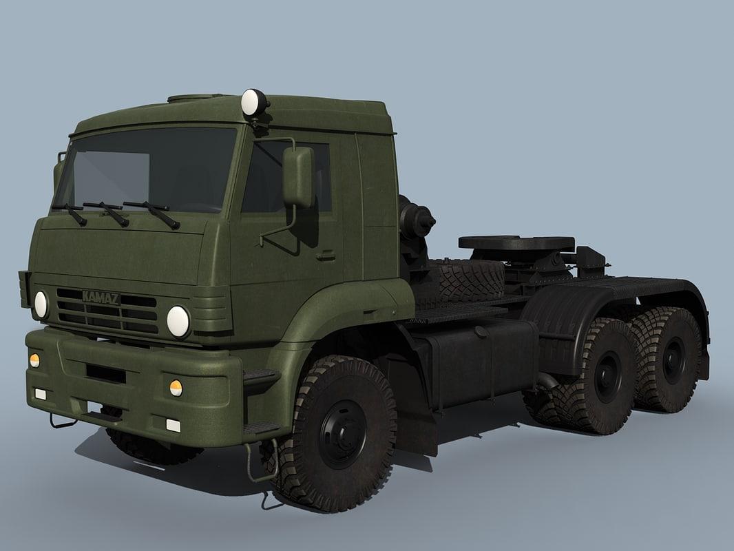 kamaz-65225 truck 3d model
