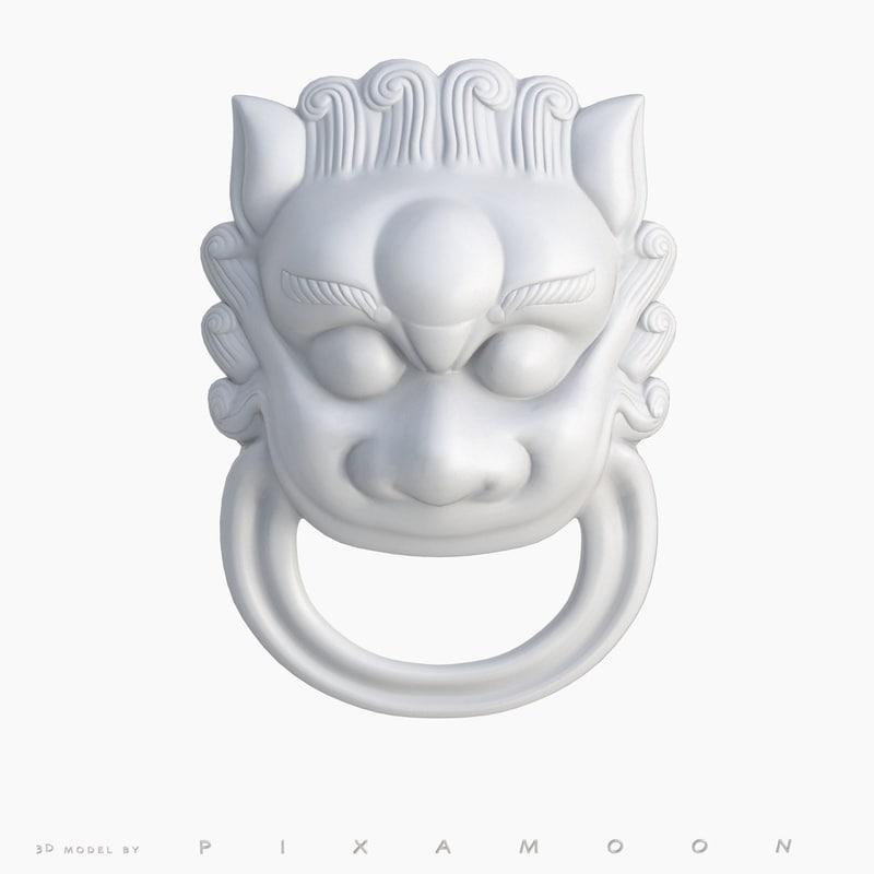 ornament dragon head - 3d model