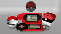 cinema4d pokemon pokeballs pokedexs