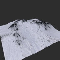 3d model mountain snow snowy