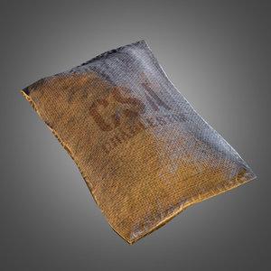 burlap supply sack 3d model